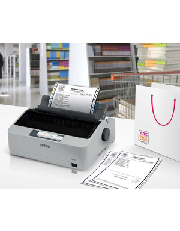 Epson LQ-310 24-pin Dot Matrix Printer - Monochrome - 80 Column - 416 cps Mono - USB - Parallel - Serial